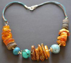Reservado para Suzy Báltico ámbar collar turquesa joyas por KARUBA