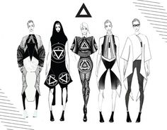 Fashion Sketchbook - fashion illustration; collection lineup drawings; fashion design portfolio // Nicole Jimenez