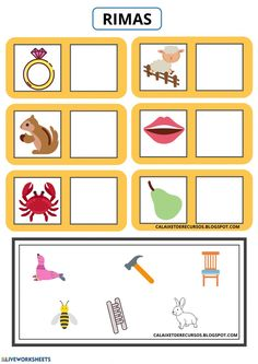 Rhyming Words, Sight Words, Phonemic Awareness, School Subjects, Pre School, Colorful Backgrounds, Worksheets, Teacher, Activities