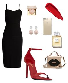 """""""Black & red - simple elegance"""" by crina-dulute-florea on Polyvore featuring MaxMara, Yves Saint Laurent, Sisley, Speck, Jankuo and Stila"""