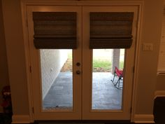 Graber fresco Roman shades number 3426 Granite outside mount on patio door. http://helmdecorating.com/