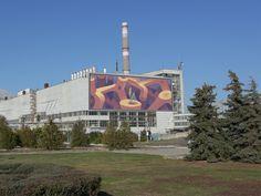 Mural project for Chernobyl Nuclear Power Plant designed by Mots. Chernobyl Nuclear Power Plant, Highlands Ranch, Saint Charles, Plant Design, Mural Art, San Luis Obispo, Salt Lake City, Sacramento, Vancouver