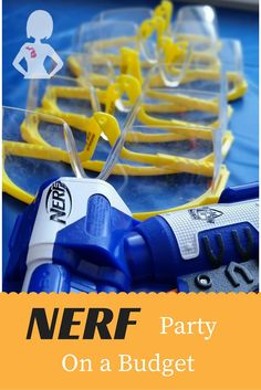 DIY Nerf Party Tips without going Overboard. Budget party with Nerf guns. Nerf Birthday Party, Nerf Party, Boy Birthday, Birthday Ideas, Nerf Gun, Paintball, Birthdays, Party Ideas, Easy Decorations