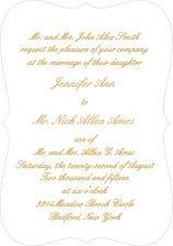 Simple Luxury Foil Wedding Invitation