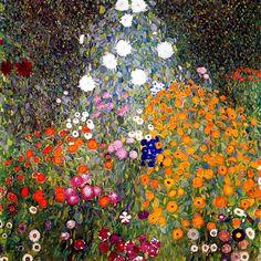 Gustav Klimt Flower Painting