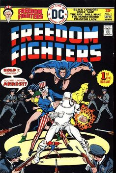 Freedom Fighters #1, April 1976, cover by Ernie Chau.