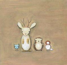 Jackalope and friends print by Marisa Haedike - Marisa Haedike - Gallery