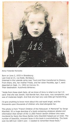 One Child of the #Holocaust