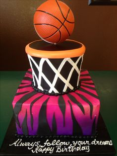 Basketball Cake Cute cake ideas for mom Pinterest Cake