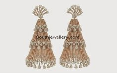 diamond jhumkas ~ Latest Jewellery Designs