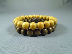 Natural Graywood and Nangka Wood Set Of 2 Bracelet, Wood Bead Bracelet, Wood Bracelet, Beaded Bracelet, Men's/Women's Bracelet by LewisASJewellery on Etsy
