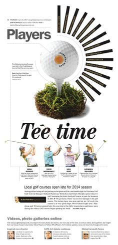 Tee time  #Newspaper #GraphicDesign #Layout #Sports