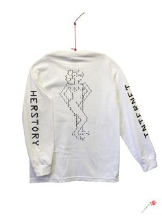 a4bbad9e9 Internet Herstory LS Tee The Future Present Past is Female. Back print  measures 15