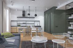 Apartment lipinka Loft, Interior Design, Bed, Table, Furniture, Home Decor, Nest Design, Decoration Home, Home Interior Design