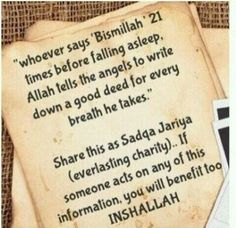 ***Please note that no authentic Hadith is found regarding 21 times. However, saying Bismillah before sleep is a good practice. No different than saying Bismillah before eating, etc. Regarding the benefits of saying Bismillah Islamic Quotes, Islamic Teachings, Islamic Inspirational Quotes, Muslim Quotes, Quran Quotes, Religious Quotes, Islamic Dua, Hadith Quotes, Allah Islam