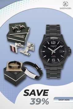 Make your man smile when you give him luxury accessories he can wear to work. From a watch to belt and cufflinks, let him feel you are a part of his day when he gets to wear these luxury accessories gifted with love. Ensure giving authentic pieces and get great deals when you cart these from ShopWorn. Discount Watches, Smiling Man, Unique Gifts, Handmade Gifts, Modern Luxury, Great Deals, Luxury Lifestyle, Baby Gifts, Birthday Gifts