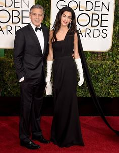 Golden Globe 2015: Amal e George Clooney