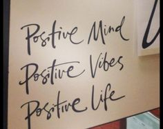Positive Mind Positive Vibes Positive Life Wall Decal