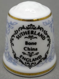Sutherland-England. Edicion UK y USA. TCC. Thimble-Dedal-Fingerhut.