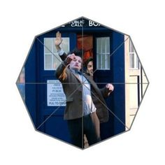 Chloeheary Doctor Who Tardis Police Call Box Custom Foldable Umbrella Rain Umbrella Wind Resistant T @ niftywarehouse.com #NiftyWarehouse #DoctorWho #DrWho #Whovians #SciFi #ScienceFiction #BBC #Show #TV