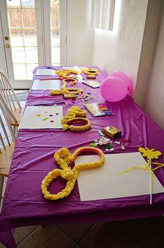 Rapunzel party - cute headband idea