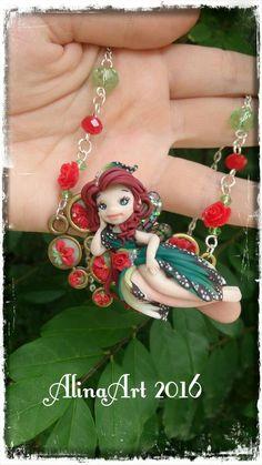 Guarda questo articolo nel mio negozio Etsy https://www.etsy.com/it/listing/384894454/necklace-crew-handmade-in-polimer-clay