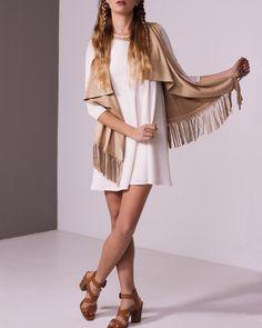 fringed suede vest #fringe #suede #vest #camel #outfit #boho