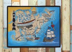 Down East NC / Crystal Coast Print from an original hand painted and lettered sign. Beach House Decor, North Carolina Art, Core Sound by ZekesAntiqueSigns on Etsy Painted Signs, Hand Painted, East Coast Beaches, Shine The Light, Antique Signs, Sign Printing, Beach House Decor, Beach Themes, North Carolina