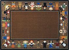 Children of Many Cultures Rug Earthtone - JC1622ETXX - Joy Carpets