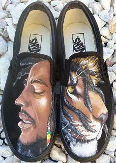 *Bob Marley* Crazy shoes.  More fantastic pictures and videos of *Bob Marley* on: https://de.pinterest.com/ReggaeHeart/