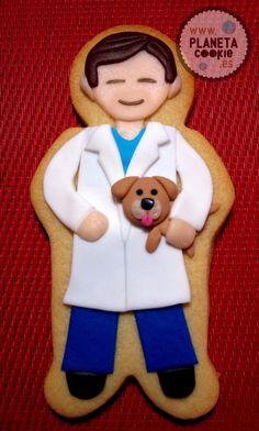 Veterinarian | Cookie Connection Fancy Cookies, Custom Cookies, Vet Cake, Doctor Gifts, Doctor Cake, Dog Cupcakes, Decorator Frosting, Iced Sugar Cookies, Cookie Flavors