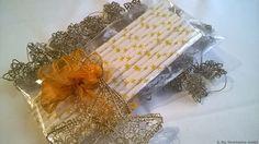Weihnachten - Papiertrinkhalm Sterne gelb