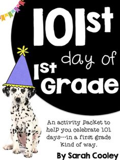 Celebrating the 100th day is so Kindergarten!  Why not celebrate the 101st day of school in first grade?!  This activity packet is full of ideas to inspire your 101st day to be full of learning, reflection, and Dalmatian fun.This activity packet includes:A 101st day activity booklet (on half pages to save on copies)A 101 Dalmatians story retell activity101st Day Smartie certificatesI can read & write 101 words booklet5 doggy themed station ideas Special snack idea and letter