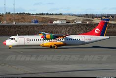 ATR 72-202, Danish Air Transport, OY-RUB, cn 301, 66 passengers, first flight 29.4.1992 (Air Tahiti), Danish Air delivered 5.5.2002. Foto: Oslo, Norway, 8.4.2011. Oslo, Air Tahiti, Atr 72, Danish, Denmark, Norway, Aircraft, Vehicles, Planes