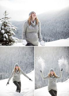 Baby's coming! Séance maternité dans la neige!   Sweet Félicité