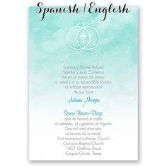 Hispanic Wedding Invitations I Amor Y Fe Print Your Wording In Spanish And English