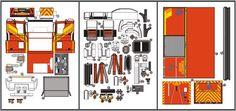 paper model peterbilt fire trucks   Created by Indonesian designer Julius Perdana , from Paper Replika ...