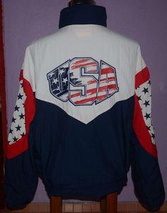 Vintage 80s 90s Swingster Pontiac USA OLYMPICS TEAM Windbreaker Jacket  Men s XL  SWINGSTER  WindbreakerJacket 18c12d128ab0