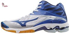 Mizuno Wave Lightning Z2 Mid, Chaussures de Volleyball Homme, Bianco (White/Dazzlingblue/Twilightblue), 45 EU - Chaussures mizuno (*Partner-Link)