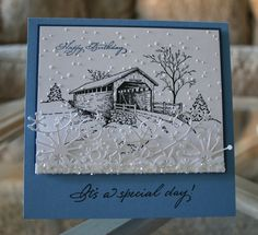 Covered Bridge - If someone could find this stamp  it would make a wonderful Christmas present.