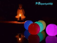 Colour Changing Beach Balls: Pool Party LED Lighting