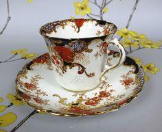 Antique ~ vintage Aynsley bone china cup & saucer. Victorian. Hand painted Imari | eBay