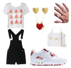 """""""Summer look#miss_summer"""" by liyanade on Polyvore featuring Ally Fashion, NIKE and Versace"""