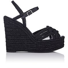 We Adore: The Raffia Platform Espadrille Sandals from Saint Laurent at Barneys New York