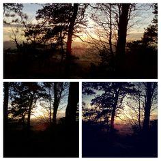 Západ slunce pod Kozákovem