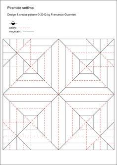 Origami poesie di carta: Piramide settima e variazioni