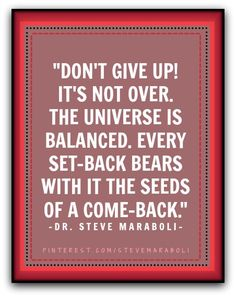 Don't give up! #quote