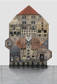 The Spirit of Cities Captured in Collage,Denmark / Copenhagen. Image Courtesy of Anastasia Savinova