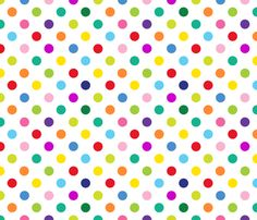 Polly - Spots/White (M) fabric by spellstone on Spoonflower - custom fabric