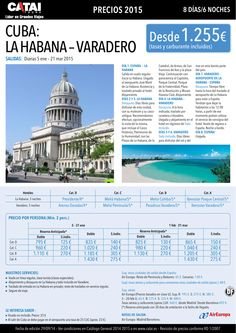 CUBA: La Habana-Varadero, sal diarias 5 ene-21 mar, 8d/6n desde 1.255€ ultimo minuto - http://zocotours.com/cuba-la-habana-varadero-sal-diarias-5-ene-21-mar-8d6n-desde-1-255e-ultimo-minuto/